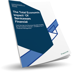 "Forrester study ""Total Economic Impact of Serviceware Financial"""