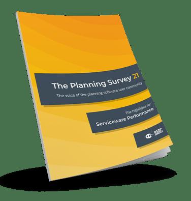 Serviceware Perfpormance Ergebnisse im BARC Planning Survey 21.