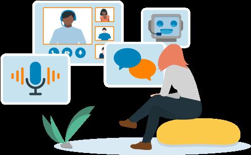 Moderne Service-Erlebnisse mit Hilfe von Messengern, Chatbots und Sprach-Assistenten schaffen.
